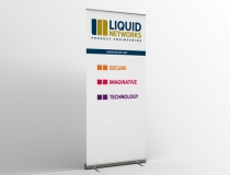 Technology banner stand
