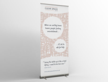 Business pull-up banner stand
